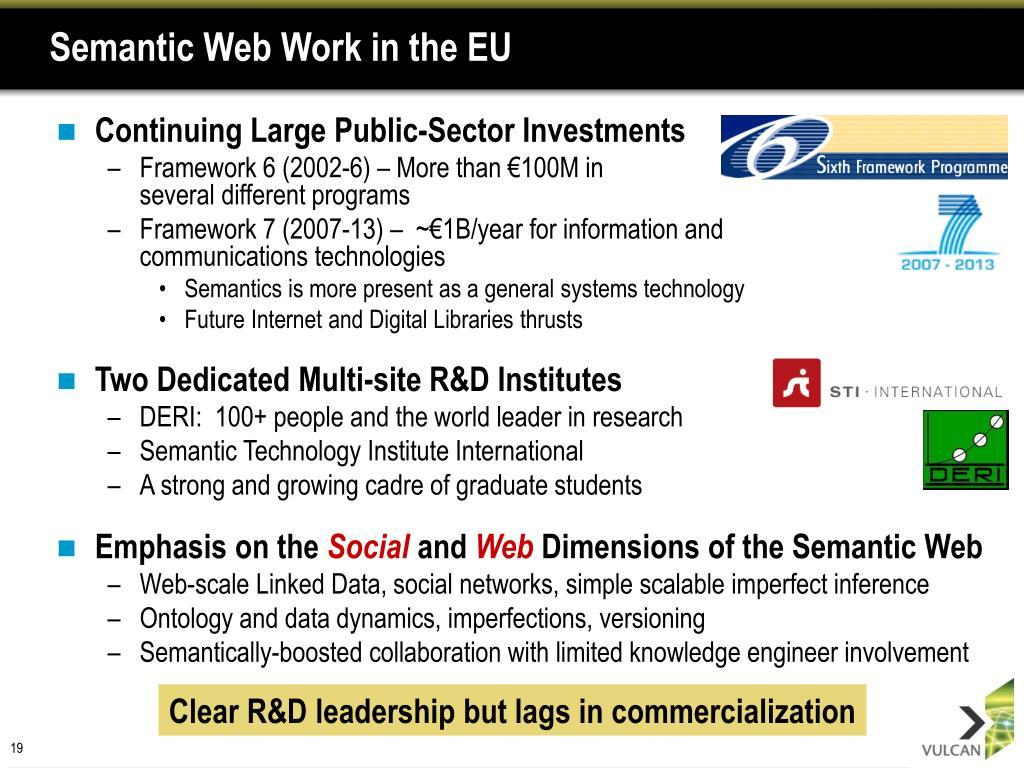 Semantic Web Work in the EU