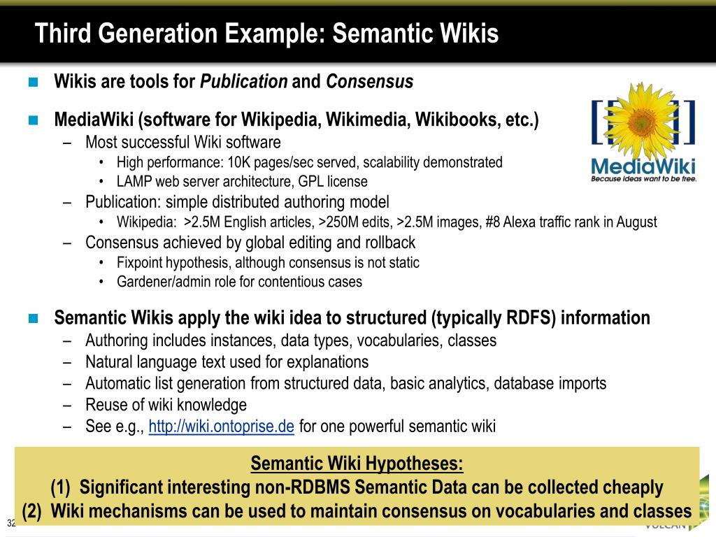 Third Generation Example: Semantic Wikis