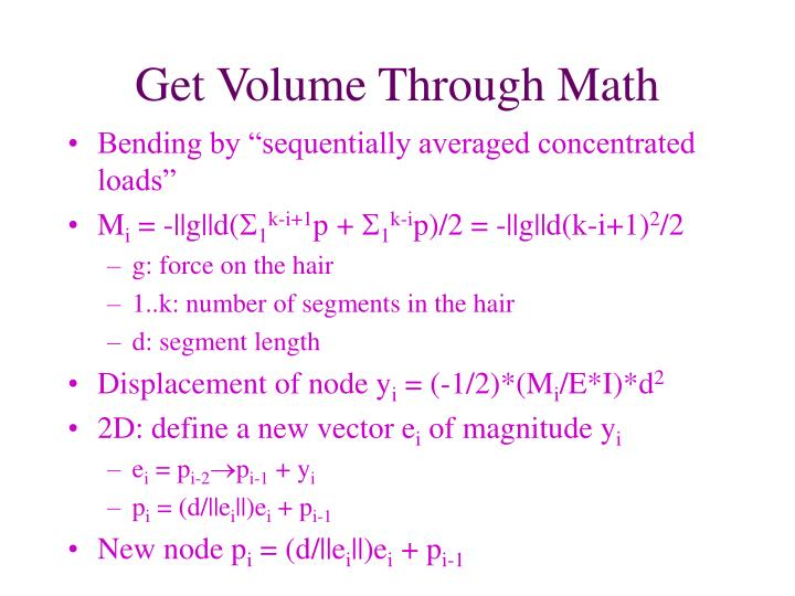Get Volume Through Math