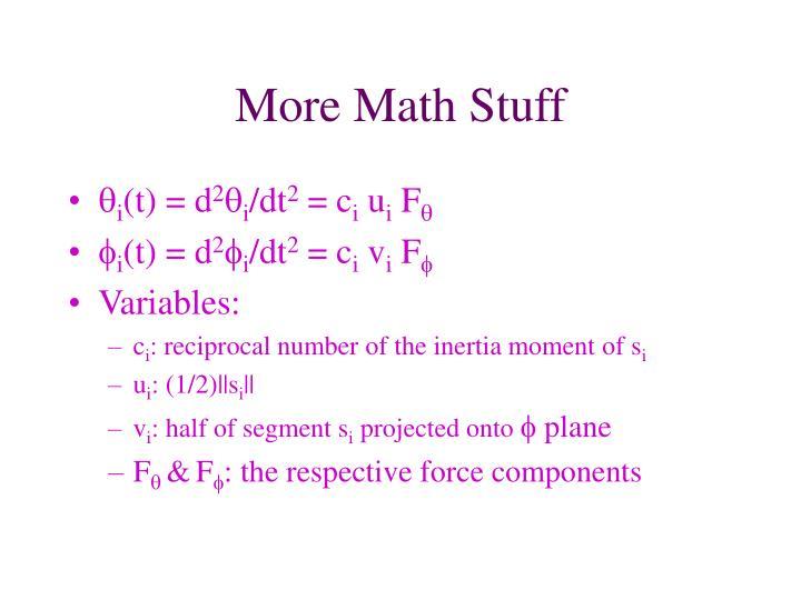 More Math Stuff