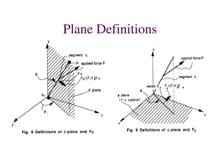 Plane Definitions