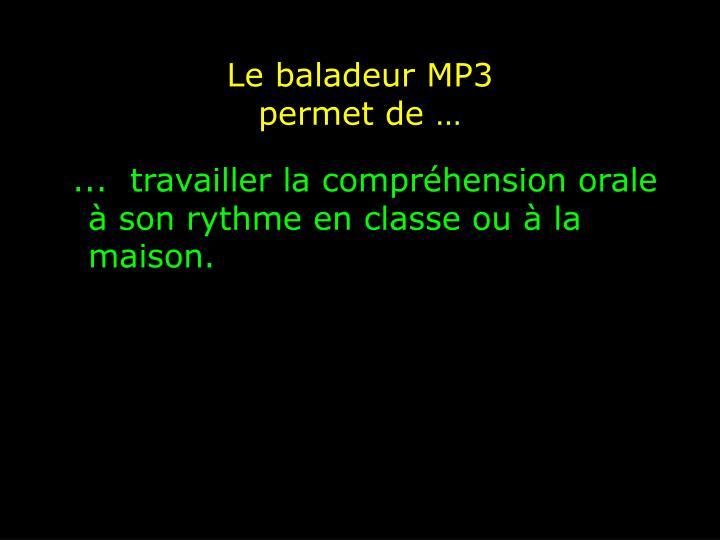 Le baladeur MP3