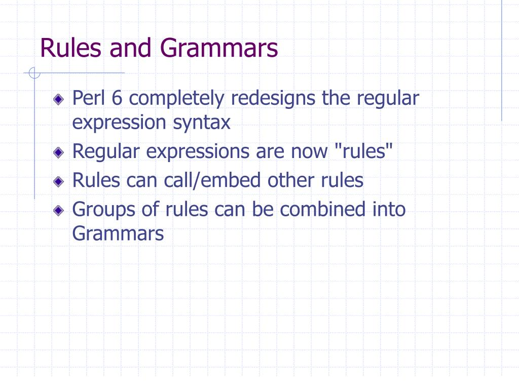 Rules and Grammars