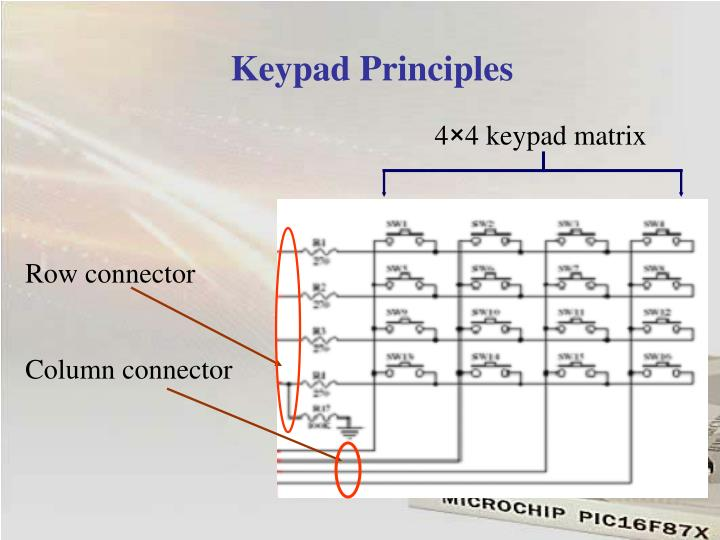 4×4 keypad matrix