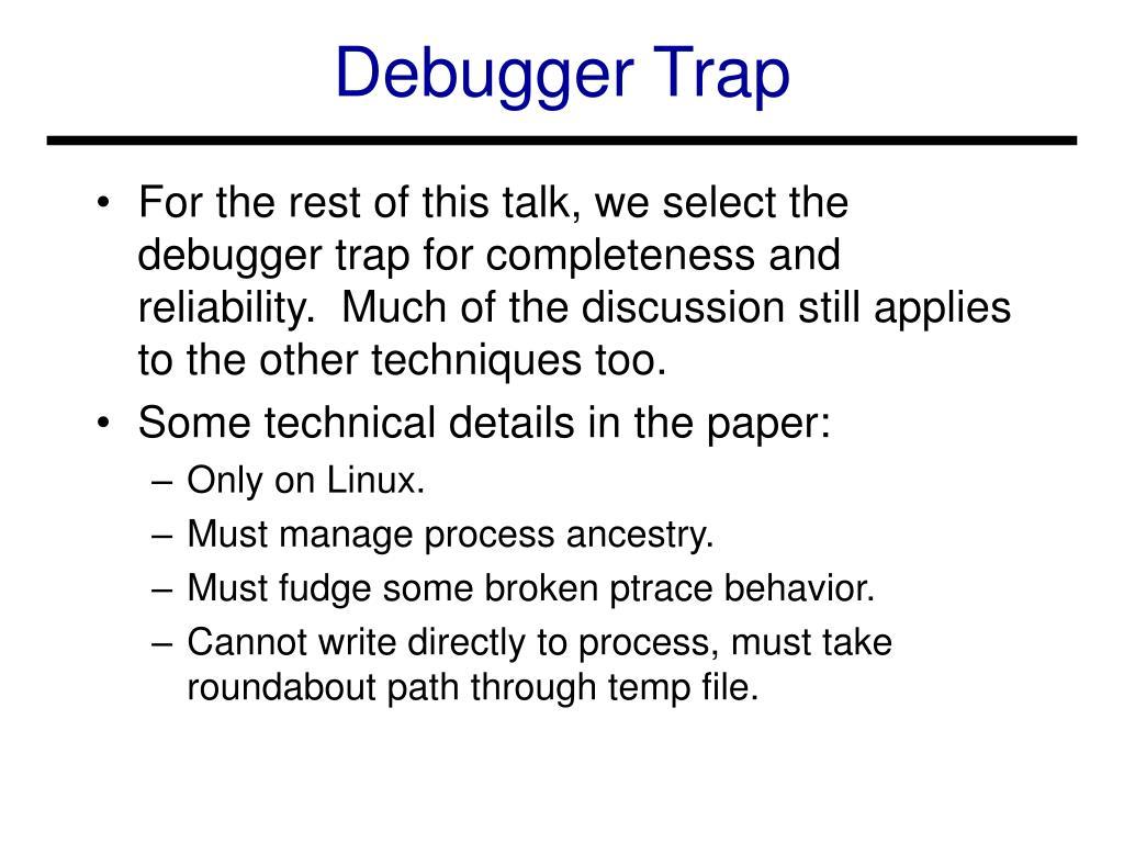 Debugger Trap