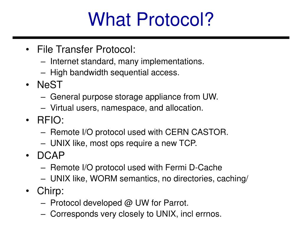 What Protocol?