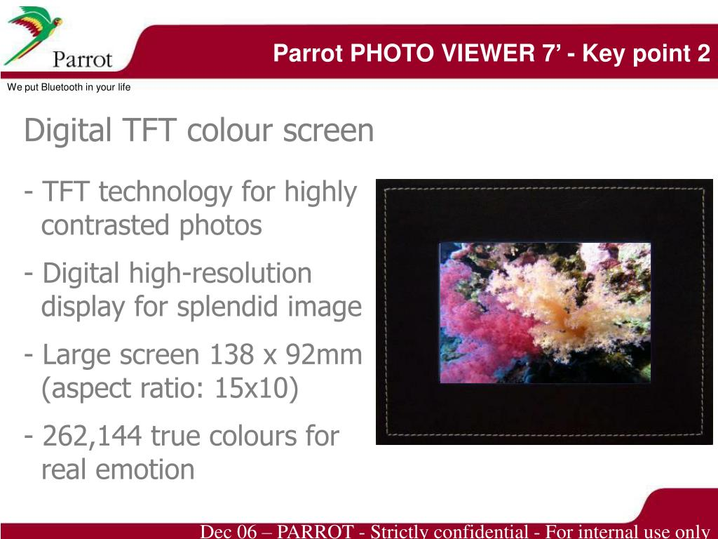 Parrot PHOTO VIEWER 7' - Key point 2