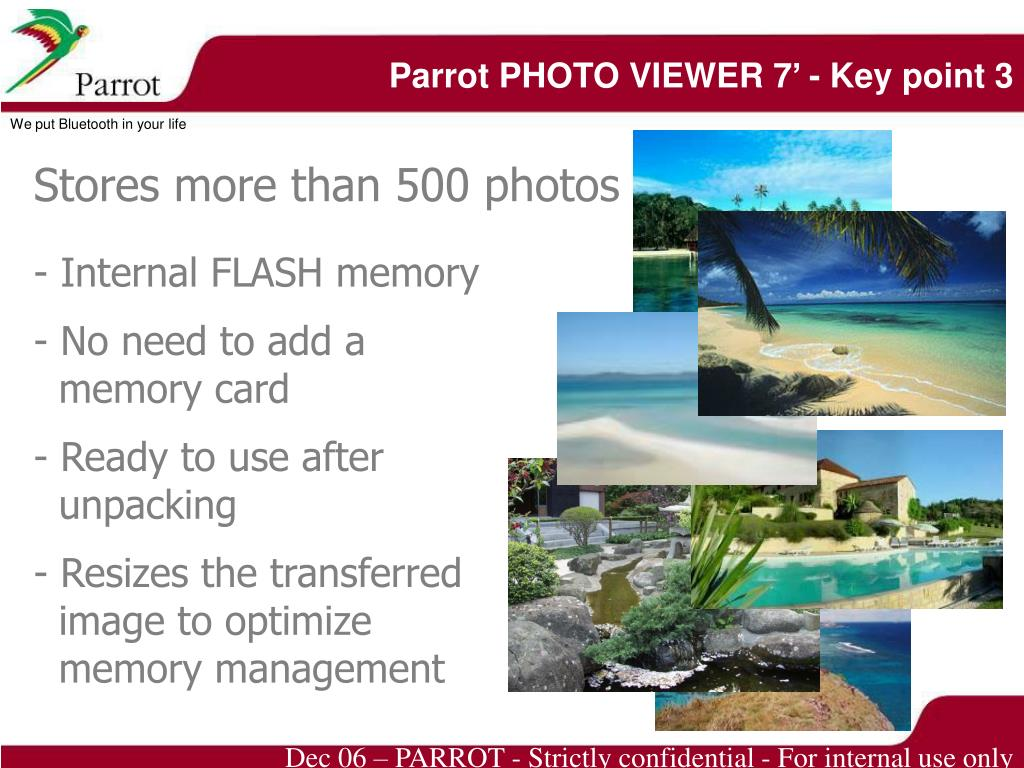 Parrot PHOTO VIEWER 7' - Key point 3