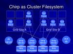 chirp as cluster filesystem