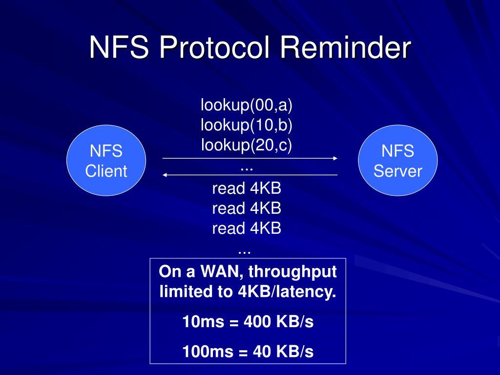 NFS Protocol Reminder