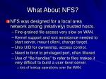 what about nfs