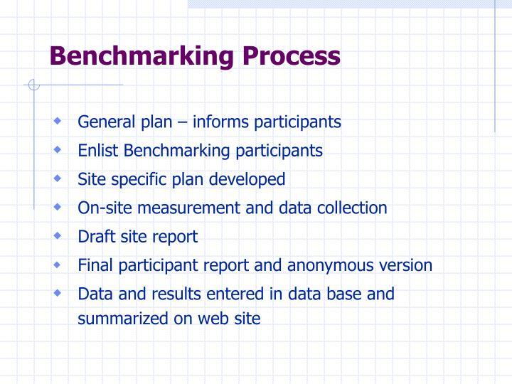 Benchmarking Process