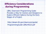 efficiency considerations during programming