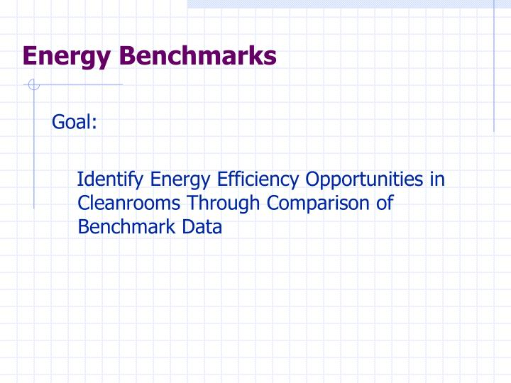 Energy Benchmarks