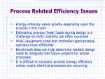 process related efficiency issues