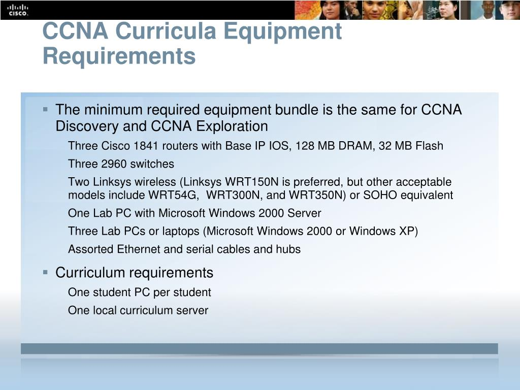 CCNA Curricula Equipment Requirements