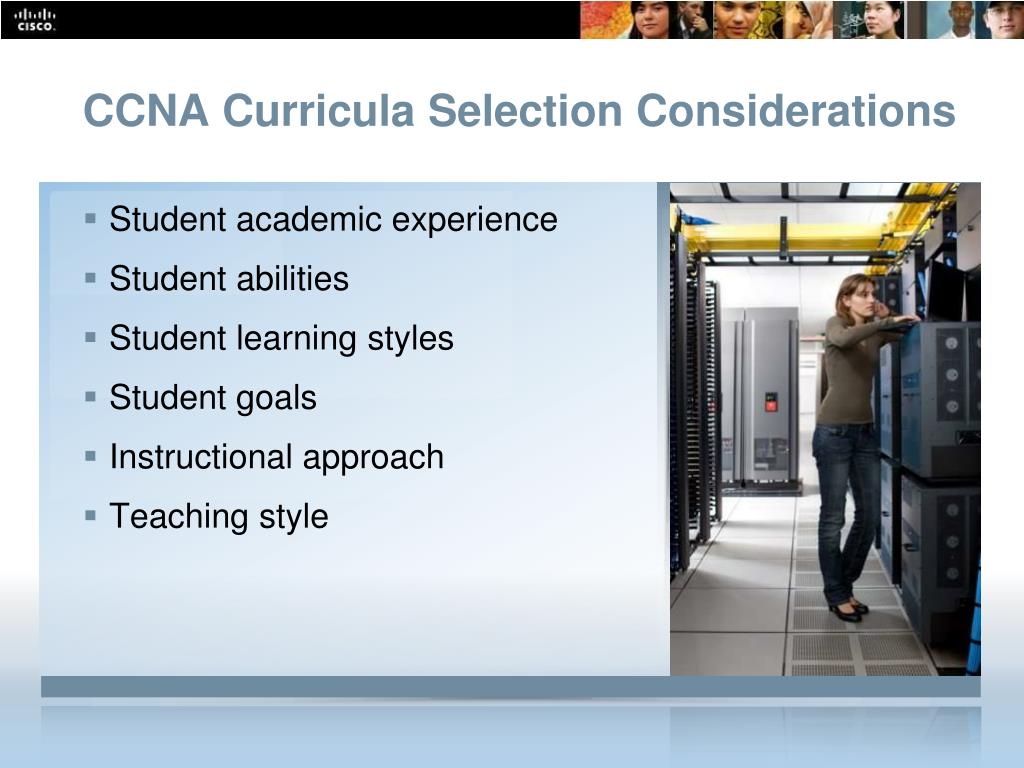 CCNA Curricula Selection Considerations
