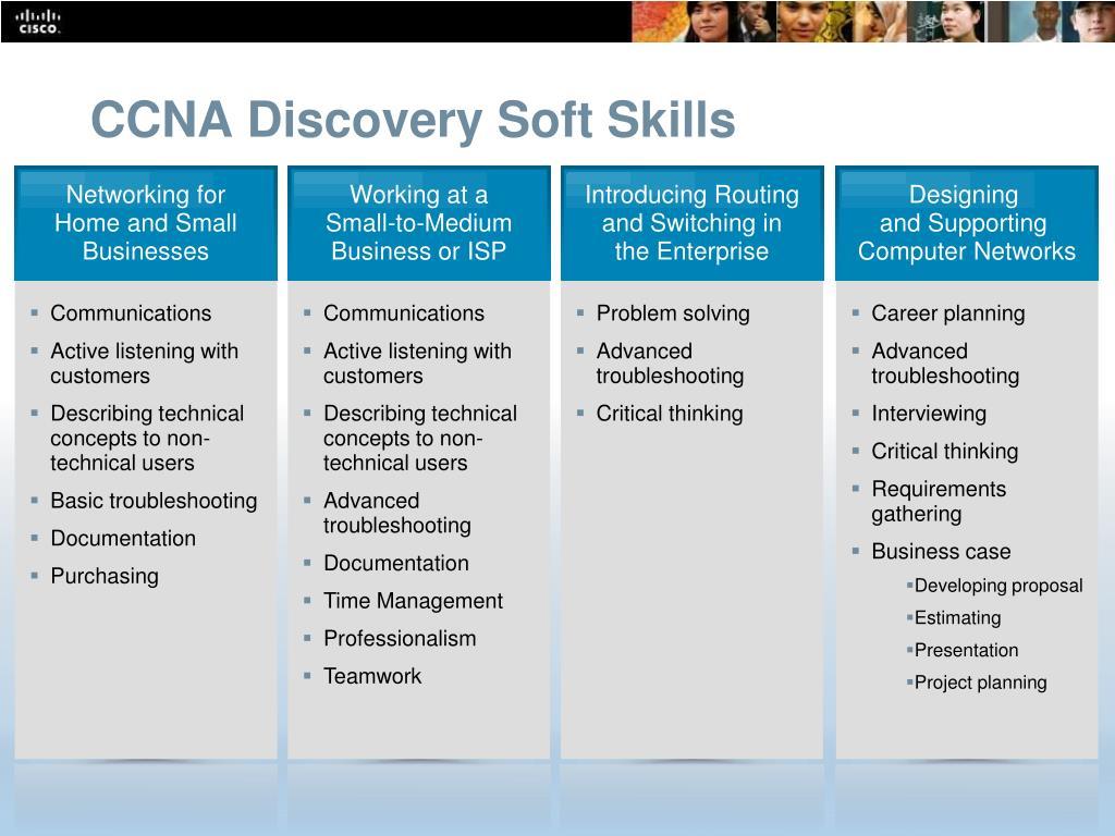 CCNA Discovery Soft Skills