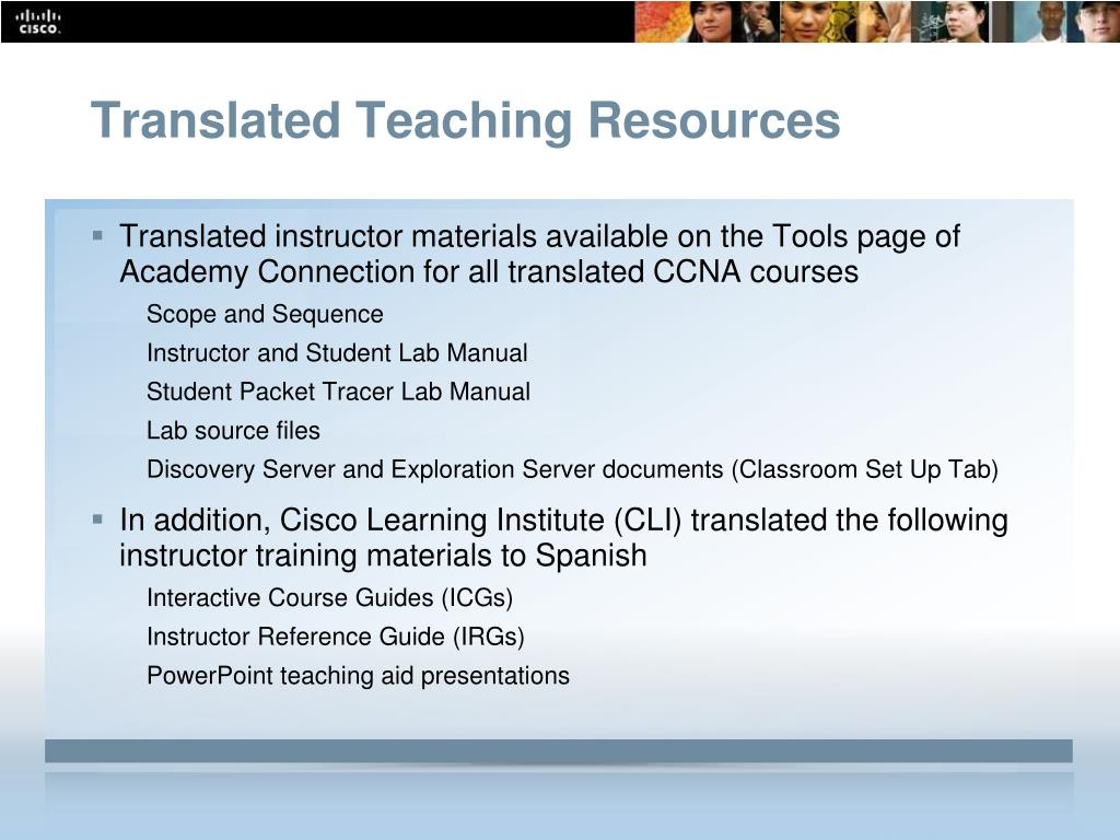 Translated Teaching Resources