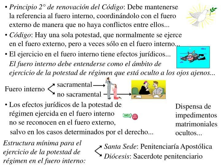 Principio 2° de renovación del Código