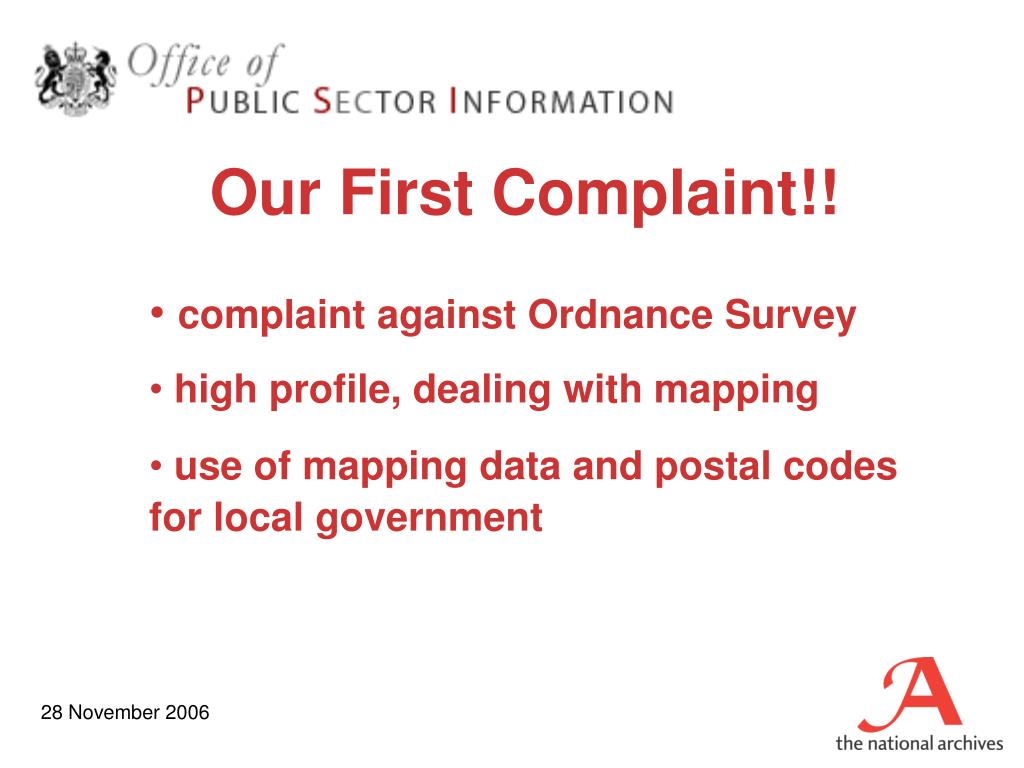 Our First Complaint!!