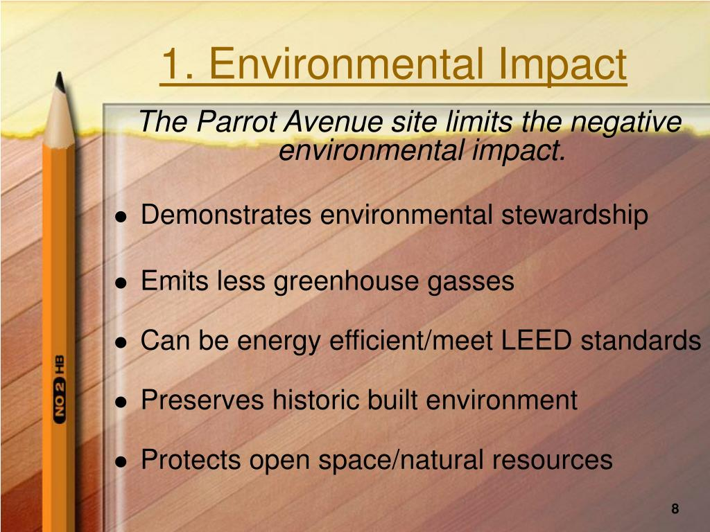 1. Environmental Impact