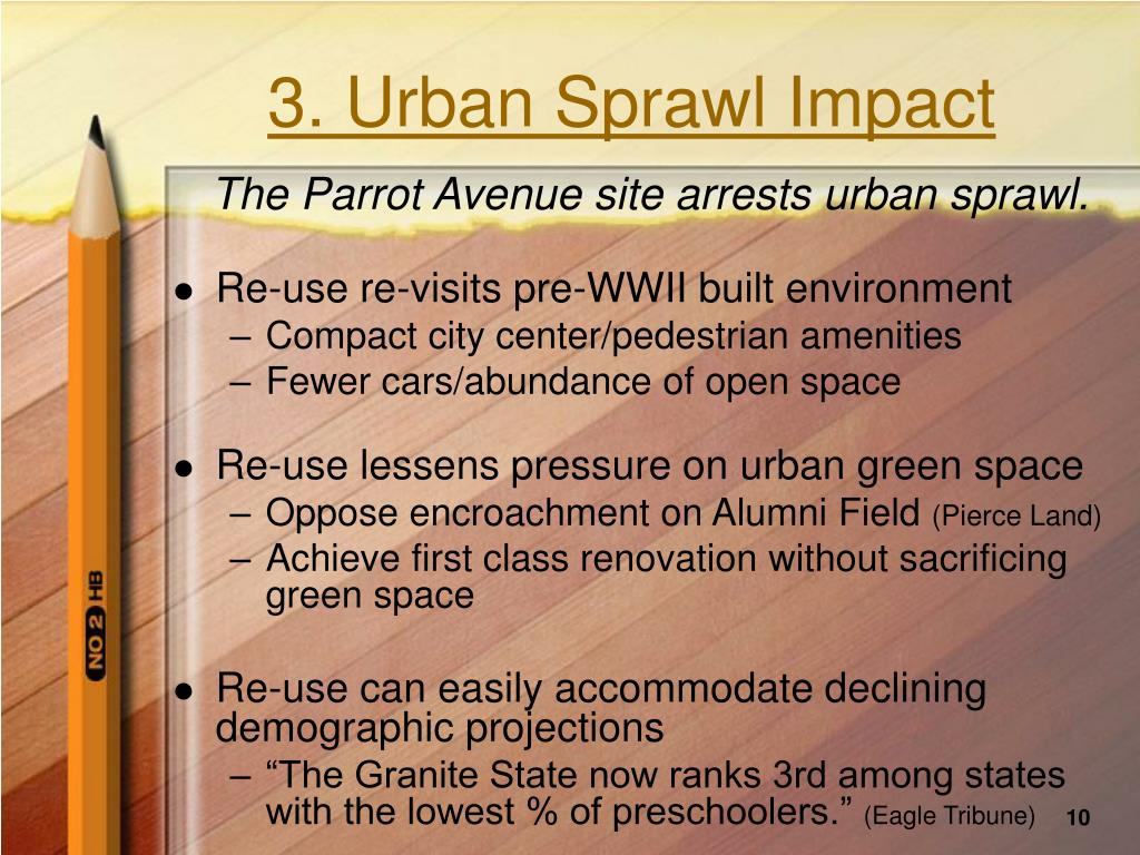 3. Urban Sprawl Impact