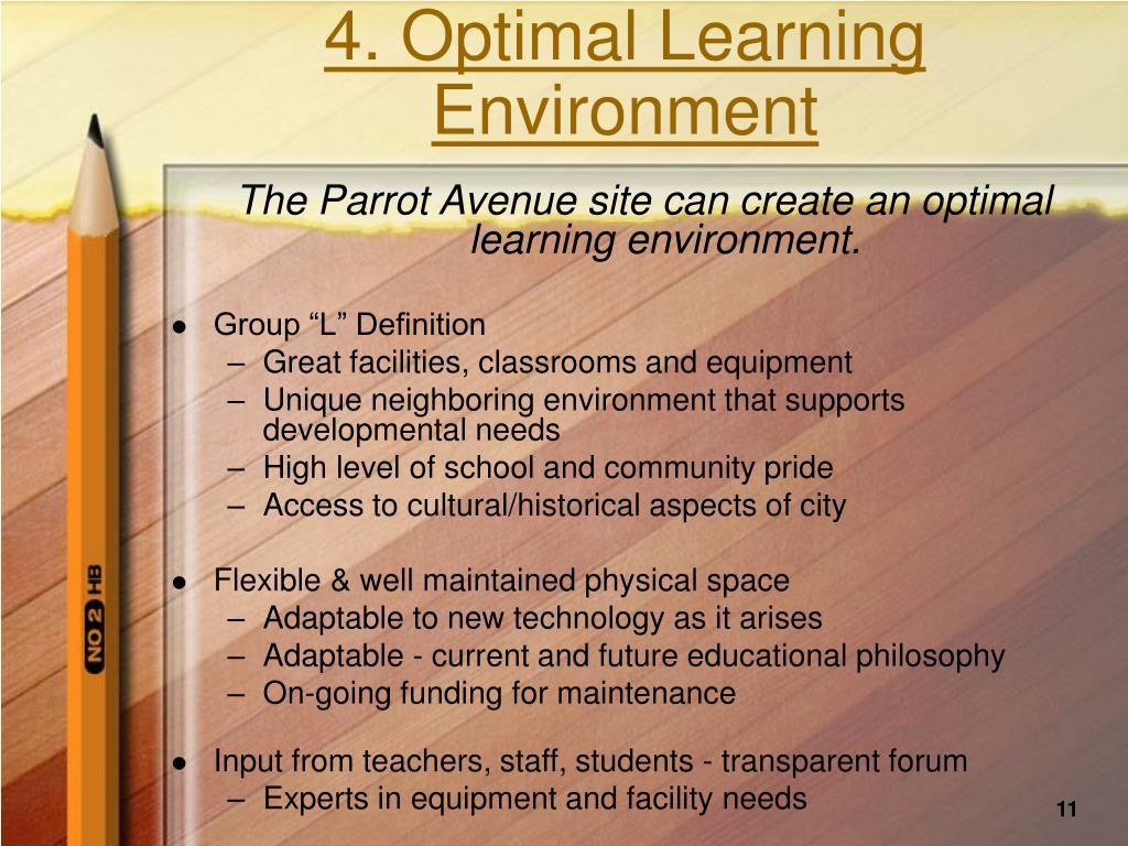 4. Optimal Learning Environment