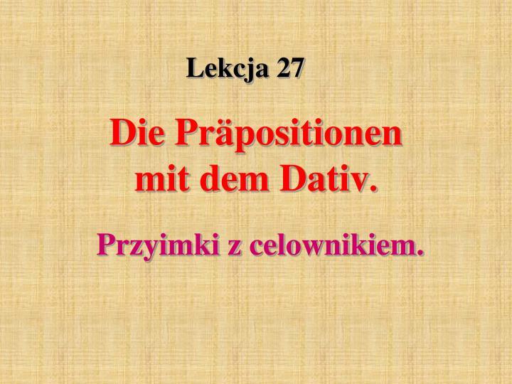 Lekcja 27
