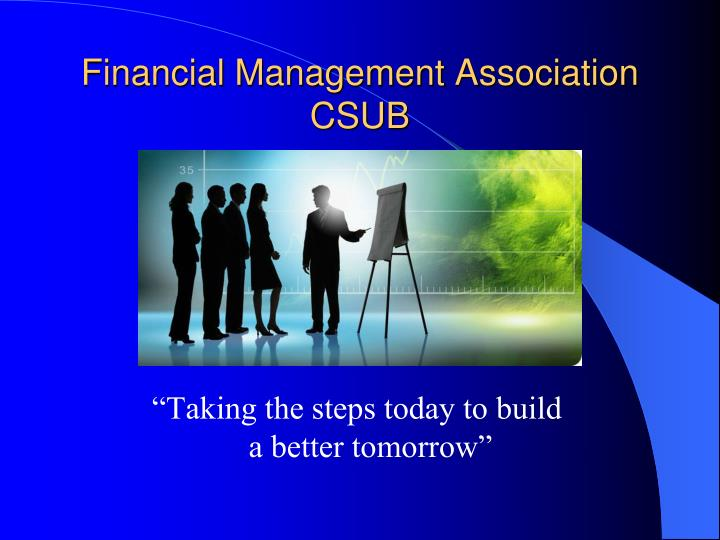 Financial management association csub