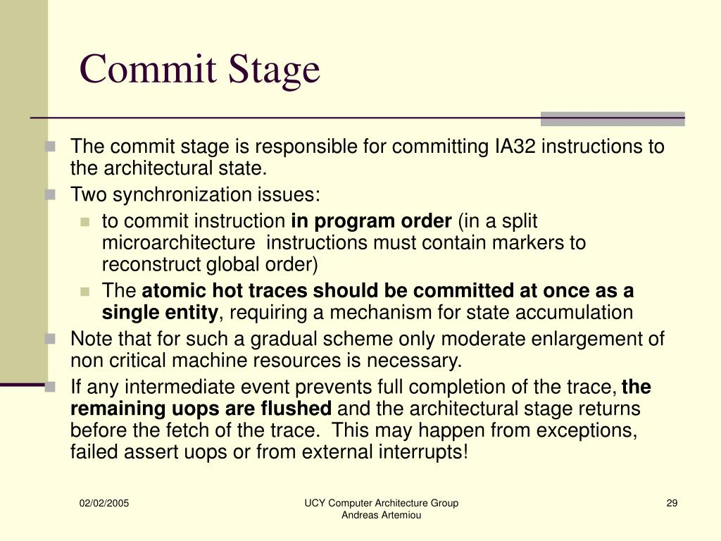 Commit Stage