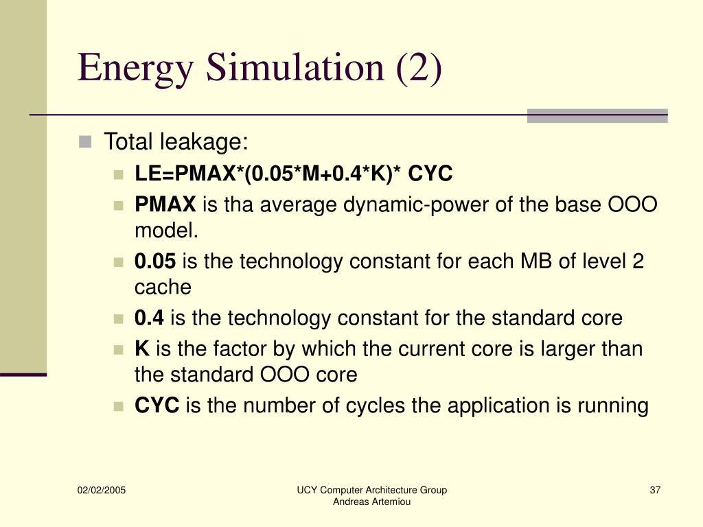 Energy Simulation (2)