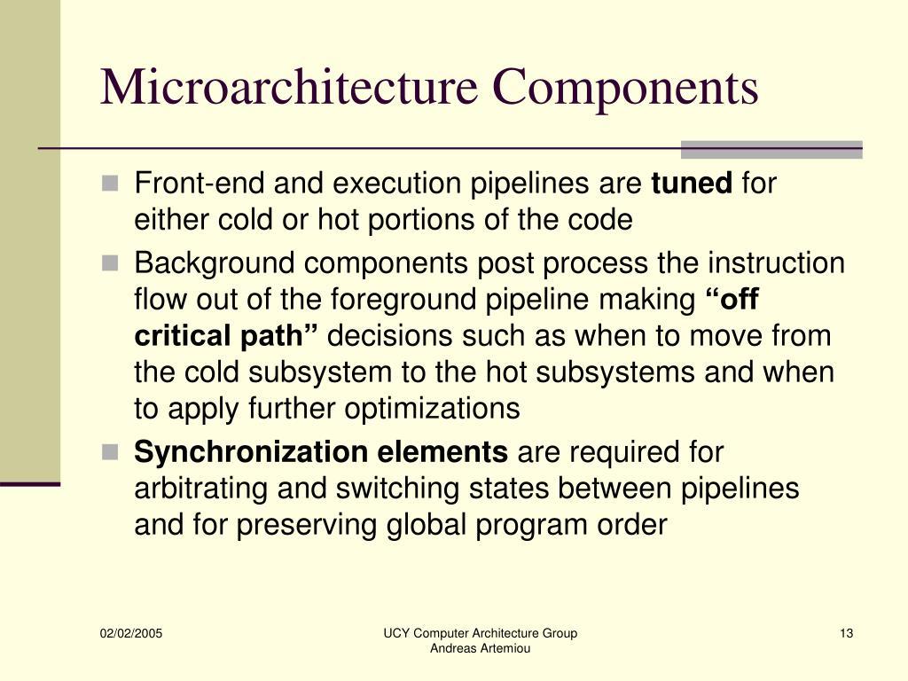 Microarchitecture Components