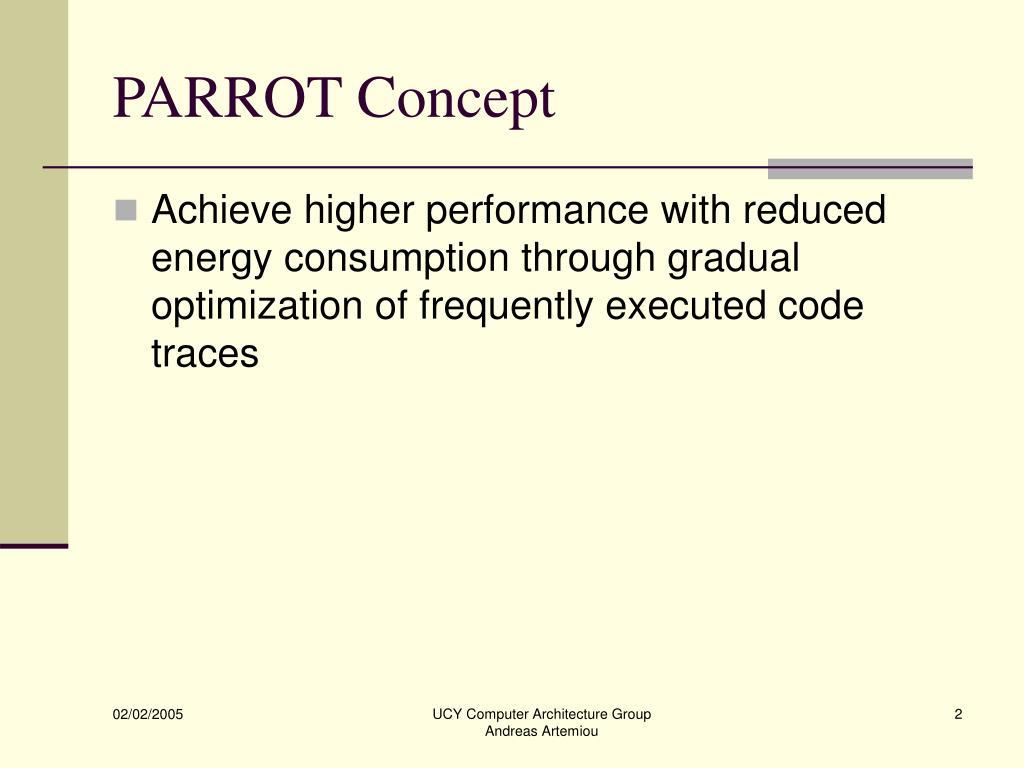 PARROT Concept