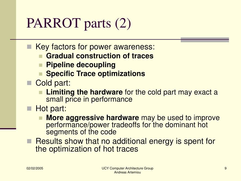PARROT parts (2)