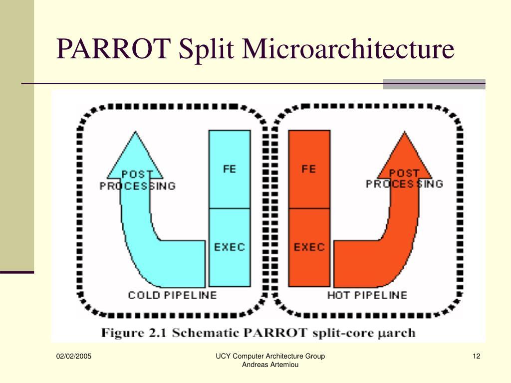PARROT Split Microarchitecture
