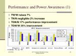 performance and power awareness 1
