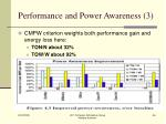 performance and power awareness 3