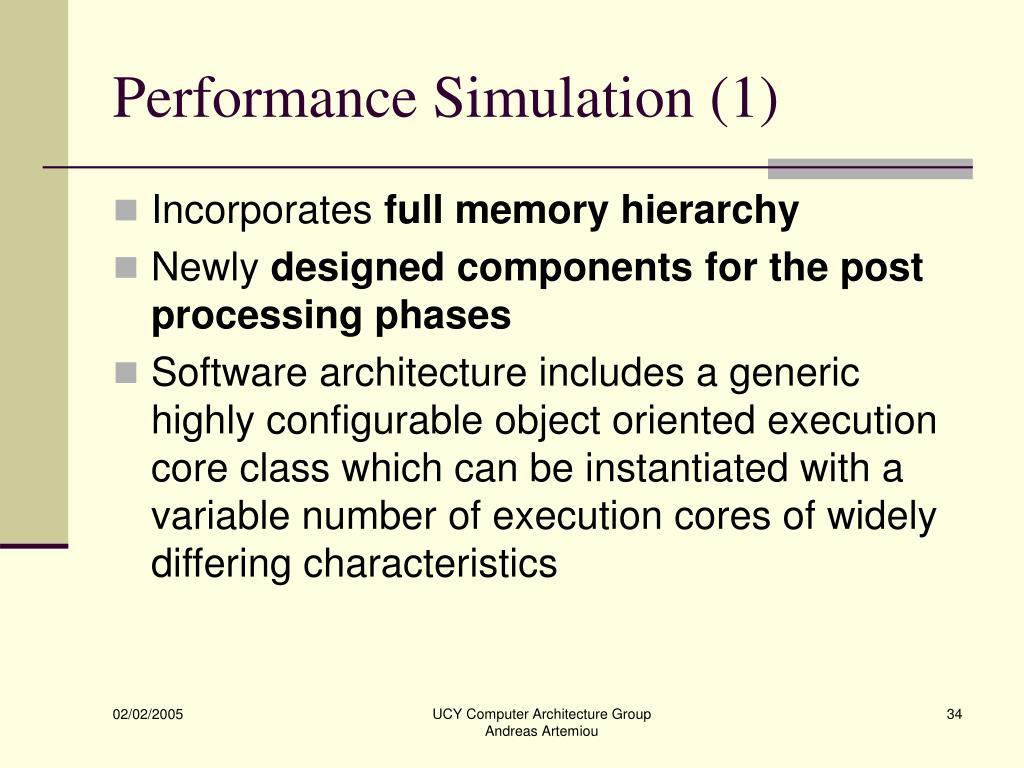 Performance Simulation (1)