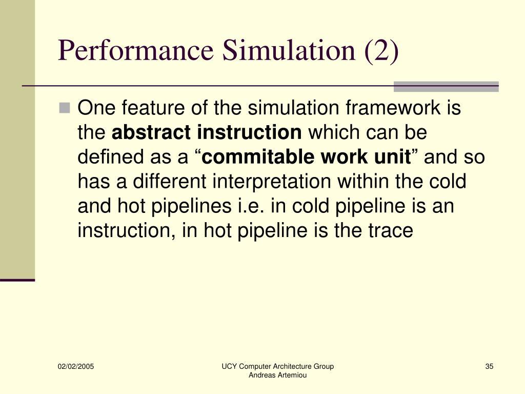 Performance Simulation (2)