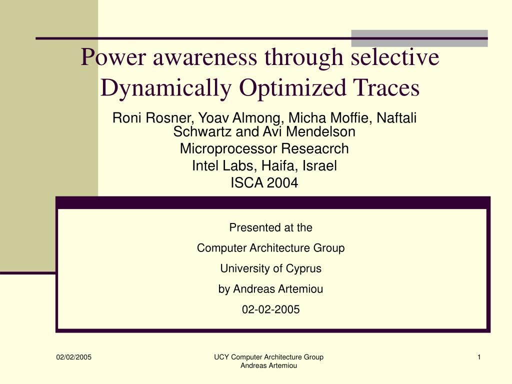 Power awareness through selective Dynamically Optimized Traces