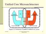 unified core microarchitecture