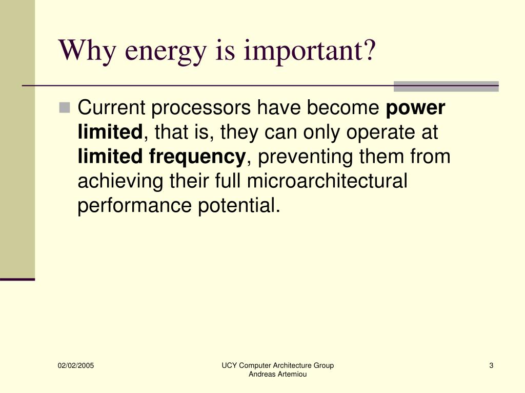 Why energy is important?