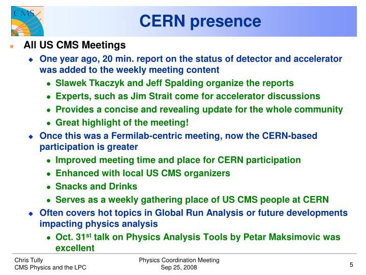 CERN presence