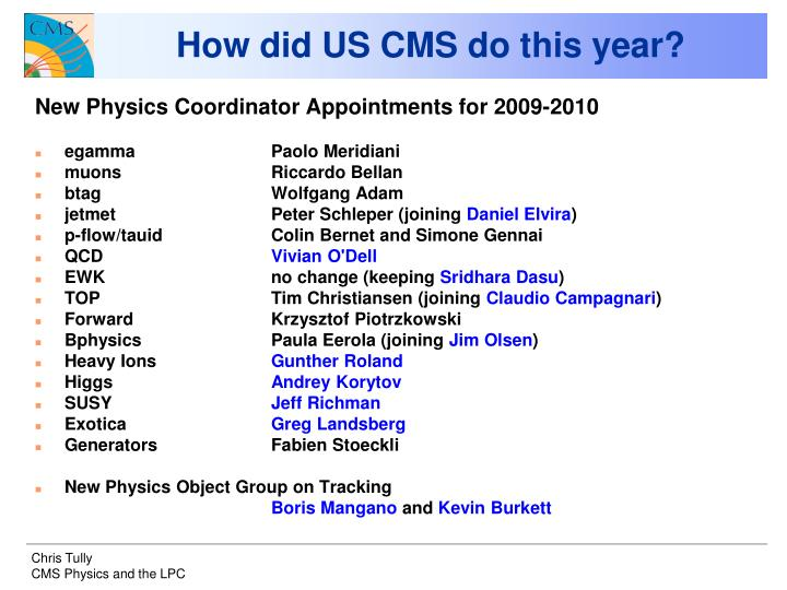 How did US CMS do this year?