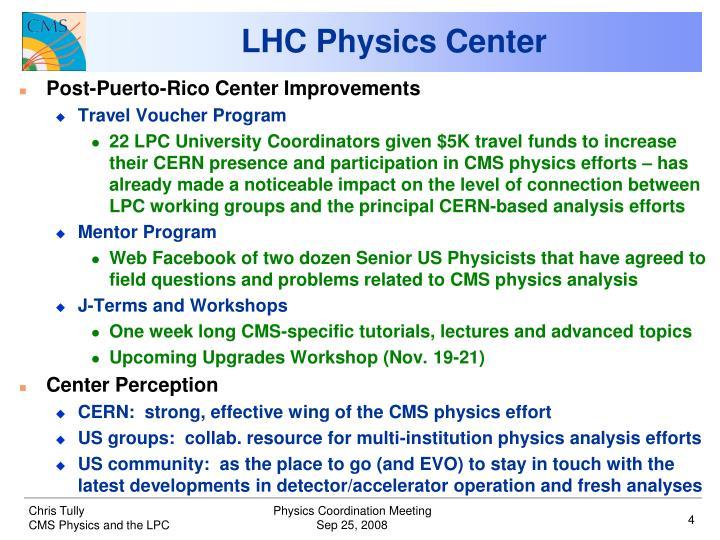 LHC Physics Center
