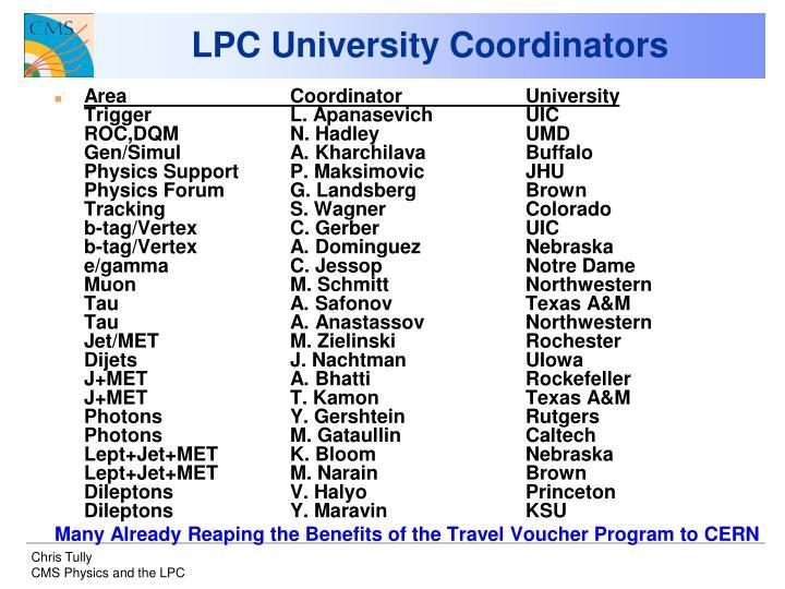 LPC University Coordinators
