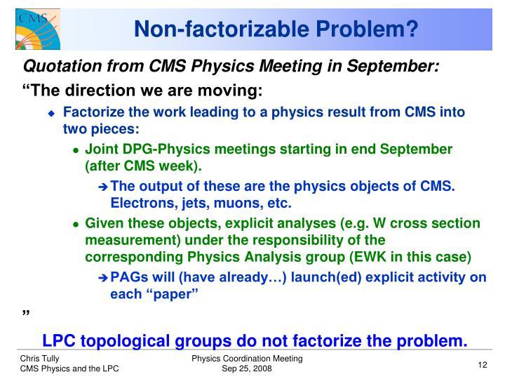 Non-factorizable Problem?