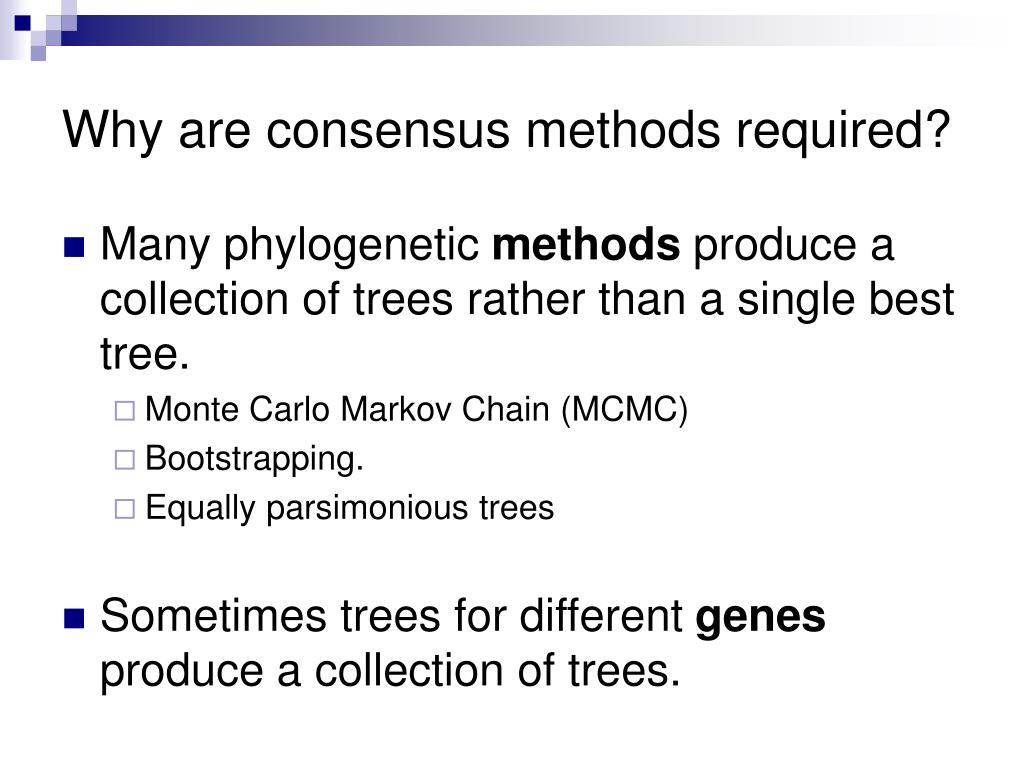 Why are consensus methods required?