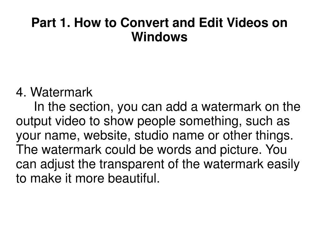4. Watermark